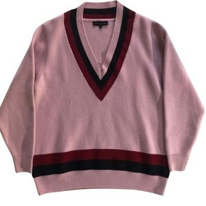Jonathan Saunders Pink v neck sweater